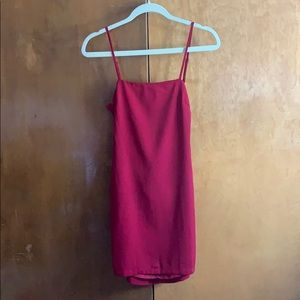 NWT LULU'S Toast to Life Red Mini Dteds